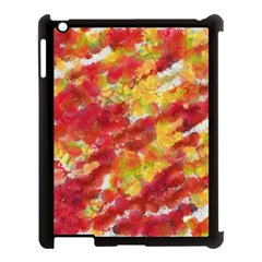 Colorful Splatters                                      			apple Ipad 3/4 Case (black) by LalyLauraFLM