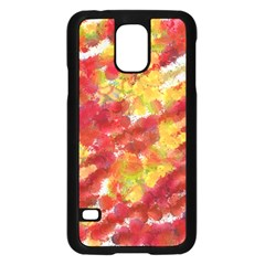 Colorful Splatters                                      			samsung Galaxy S5 Case (black) by LalyLauraFLM
