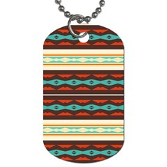 Stripes And Rhombus Chains                                      			dog Tag (one Side) by LalyLauraFLM