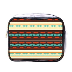 Stripes And Rhombus Chains                                      			mini Toiletries Bag (one Side) by LalyLauraFLM