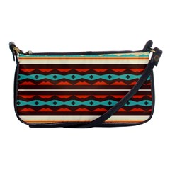 Stripes And Rhombus Chains                                      			shoulder Clutch Bag by LalyLauraFLM