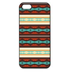Stripes And Rhombus Chains                                      			apple Iphone 5 Seamless Case (black) by LalyLauraFLM