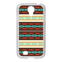 Stripes And Rhombus Chains                                      			samsung Galaxy S4 I9500/ I9505 Case (white) by LalyLauraFLM
