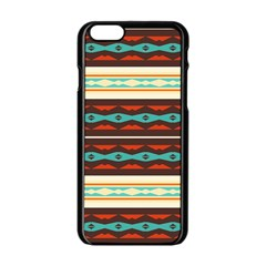 Stripes And Rhombus Chains                                      			apple Iphone 6/6s Black Enamel Case by LalyLauraFLM