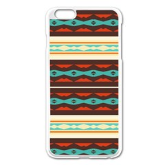 Stripes And Rhombus Chains                                      			apple Iphone 6 Plus/6s Plus Enamel White Case by LalyLauraFLM