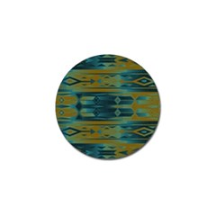 Blue Green Gradient Shapes                                       			golf Ball Marker (4 Pack) by LalyLauraFLM