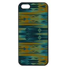 Blue Green Gradient Shapes                                       			apple Iphone 5 Seamless Case (black) by LalyLauraFLM
