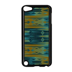 Blue Green Gradient Shapes                                       			apple Ipod Touch 5 Case (black) by LalyLauraFLM