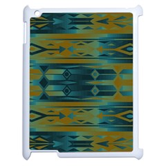 Blue Green Gradient Shapes                                       			apple Ipad 2 Case (white) by LalyLauraFLM