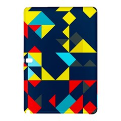 Colorful Shapes On A Blue Background                                        			samsung Galaxy Tab Pro 10 1 Hardshell Case by LalyLauraFLM