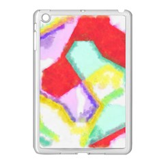 Watercolors Shapes                                         			apple Ipad Mini Case (white) by LalyLauraFLM