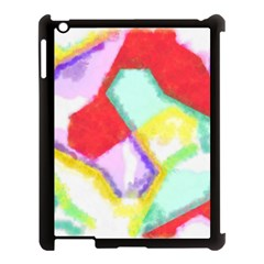 Watercolors Shapes                                         			apple Ipad 3/4 Case (black) by LalyLauraFLM