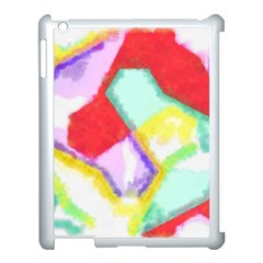 Watercolors Shapes                                         			apple Ipad 3/4 Case (white) by LalyLauraFLM