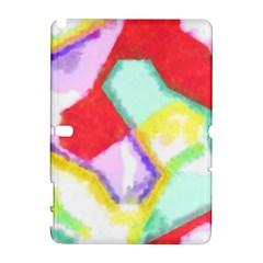 Watercolors Shapes                                         			samsung Galaxy Note 10 1 (p600) Hardshell Case by LalyLauraFLM