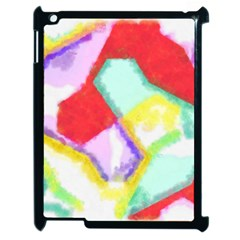 Watercolors Shapes                                         			apple Ipad 2 Case (black) by LalyLauraFLM