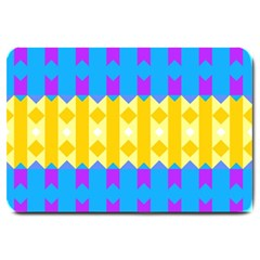 Rhombus And Other Shapes Pattern                                          			large Doormat by LalyLauraFLM