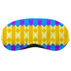 Rhombus And Other Shapes Pattern                                          			sleeping Mask by LalyLauraFLM