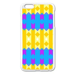 Rhombus And Other Shapes Pattern                                          			apple Iphone 6 Plus/6s Plus Enamel White Case by LalyLauraFLM