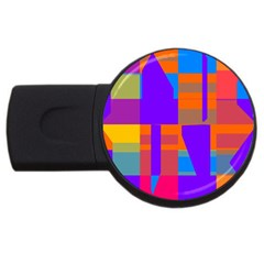 Misc Colorful Shapes                                           			usb Flash Drive Round (2 Gb) by LalyLauraFLM