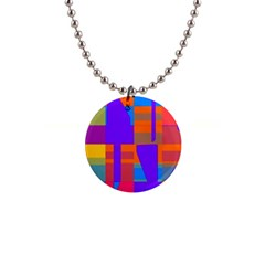 Misc Colorful Shapes                                           			1  Button Necklace by LalyLauraFLM
