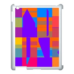 Misc Colorful Shapes                                           			apple Ipad 3/4 Case (white)