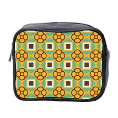Flowers And Squares Pattern                                            Mini Toiletries Bag (two Sides) by LalyLauraFLM