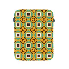 Flowers And Squares Pattern                                            			apple Ipad 2/3/4 Protective Soft Case by LalyLauraFLM