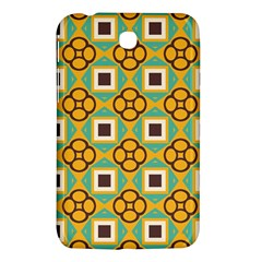 Flowers And Squares Pattern                                            			samsung Galaxy Tab 3 (7 ) P3200 Hardshell Case by LalyLauraFLM