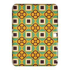 Flowers And Squares Pattern                                            			samsung Galaxy Tab 4 (10 1 ) Hardshell Case by LalyLauraFLM