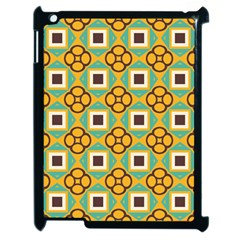 Flowers And Squares Pattern                                            			apple Ipad 2 Case (black) by LalyLauraFLM