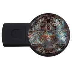 Metallic Copper Patina Urban Grunge Texture Usb Flash Drive Round (2 Gb) by CrypticFragmentsDesign
