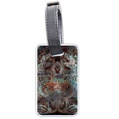 Metallic Copper Patina Urban Grunge Texture Luggage Tag (two Sides) by CrypticFragmentsDesign