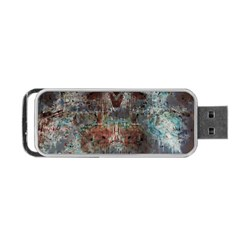 Metallic Copper Patina Urban Grunge Texture Portable Usb Flash (one Side) by CrypticFragmentsDesign