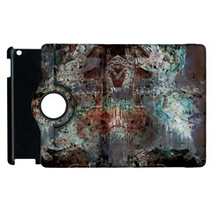 Metallic Copper Patina Urban Grunge Texture Apple Ipad 2 Flip 360 Case by CrypticFragmentsDesign