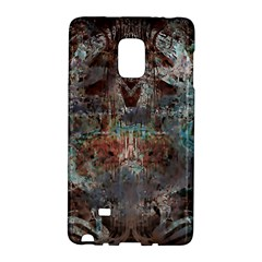 Metallic Copper Patina Urban Grunge Texture Samsung Galaxy Note Edge Hardshell Case by CrypticFragmentsDesign