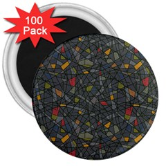 Abstract Reg 3  Magnets (100 Pack) by FunkyPatterns