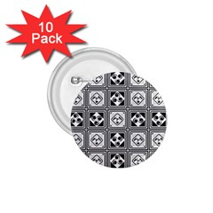 Black And White 1 75  Buttons (10 Pack)