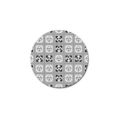 Black And White Golf Ball Marker (10 Pack) by FunkyPatterns