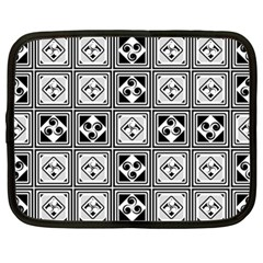 Black And White Netbook Case (large) by FunkyPatterns