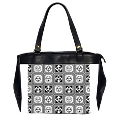 Black And White Office Handbags (2 Sides)  by FunkyPatterns