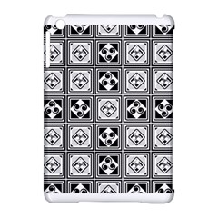 Black And White Apple Ipad Mini Hardshell Case (compatible With Smart Cover)