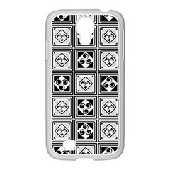 Black And White Samsung Galaxy S4 I9500/ I9505 Case (white) by FunkyPatterns