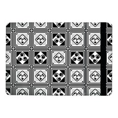 Black And White Samsung Galaxy Tab Pro 10 1  Flip Case by FunkyPatterns