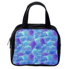 Blue And Purple Glowing Classic Handbags (one Side) by FunkyPatterns