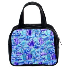 Blue And Purple Glowing Classic Handbags (2 Sides) by FunkyPatterns