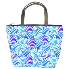 Blue And Purple Glowing Bucket Bags by FunkyPatterns