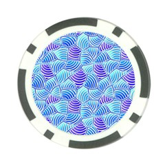 Blue And Purple Glowing Poker Chip Card Guards (10 Pack)  by FunkyPatterns