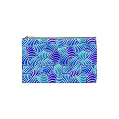 Blue And Purple Glowing Cosmetic Bag (small)  by FunkyPatterns