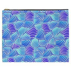 Blue And Purple Glowing Cosmetic Bag (xxxl)  by FunkyPatterns
