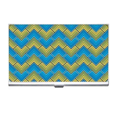 Blue And Yellow Business Card Holders by FunkyPatterns